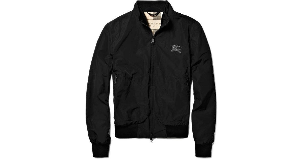 dd64a1892 Burberry Brit Black Showerproof Bomber Jacket for men