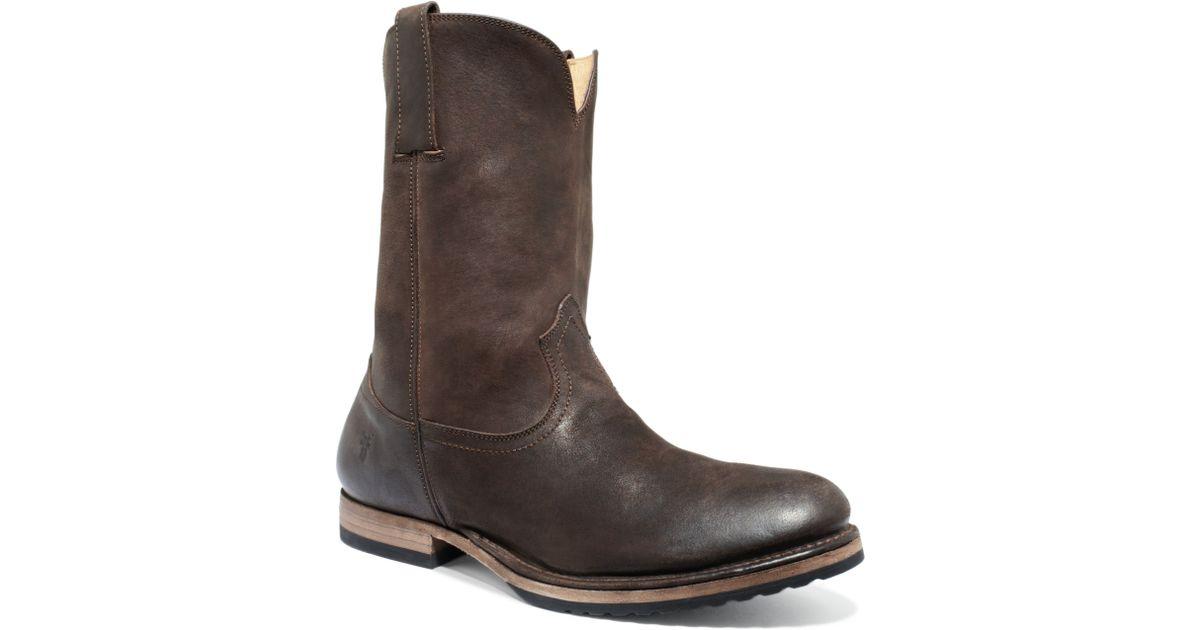 33bc95bdfd5 Frye Brown Jake Roper Boots for men
