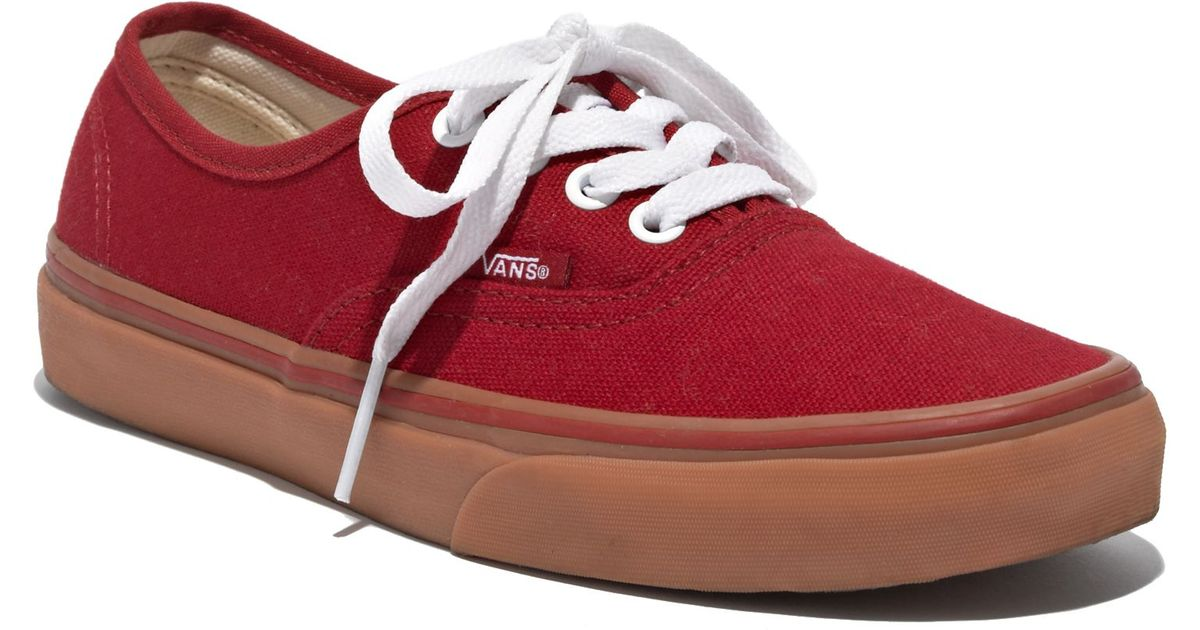 16e7497b477d Madewell Vansreg Authentic Gumsole Sneakers in Red - Lyst