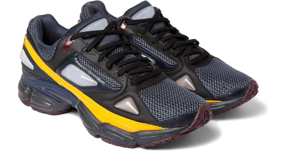 detailed look 0d472 1f85c Raf Simons Blue Ozweego 1 Panelled Sneakers for men