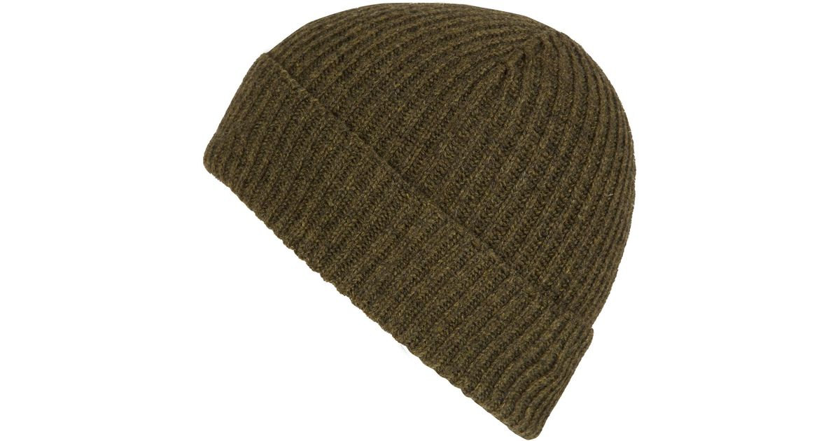 0995d46679a Lyst - Johnstons Green Cashmere Beanie Hat in Green for Men
