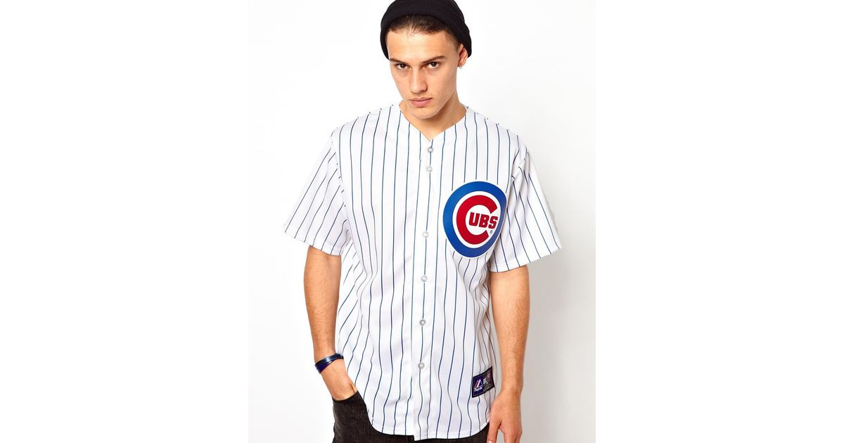 cheaper 52207 89158 Majestic White Chicago Cubs Baseball Jersey for men