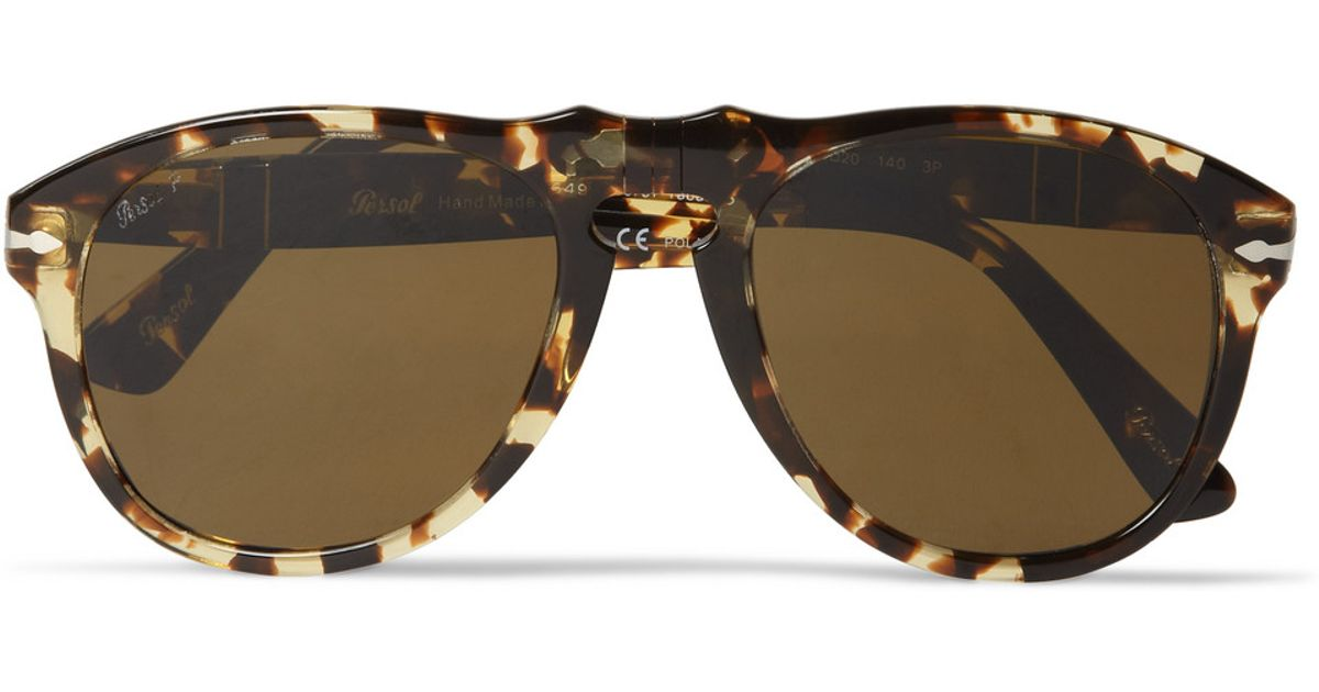 aa697bf547 Lyst - Persol 649 54 Tabacco Virginia Polarised Acetate Sunglasses in Brown  for Men