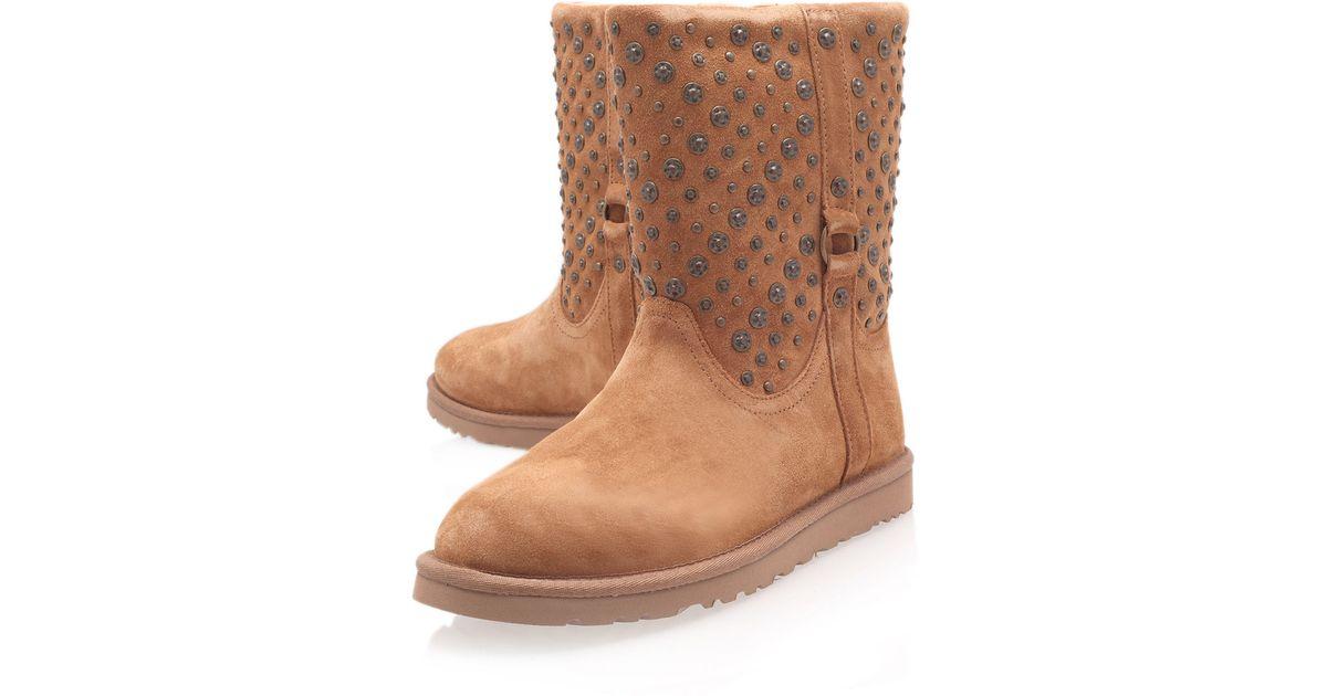 ecd9b2326d2 UGG Brown Chestnut Eliott Studded Sheepskin Boots