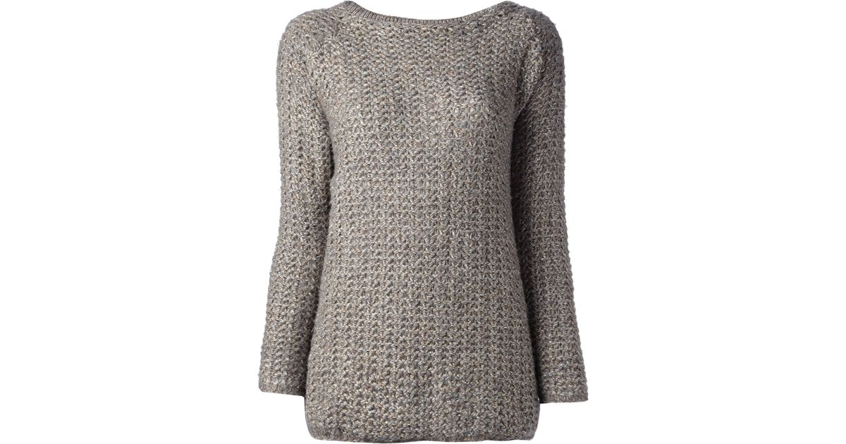 0f8ef779ada9 Lyst - Snobby Sheep Chunky Knit Jumper in Brown