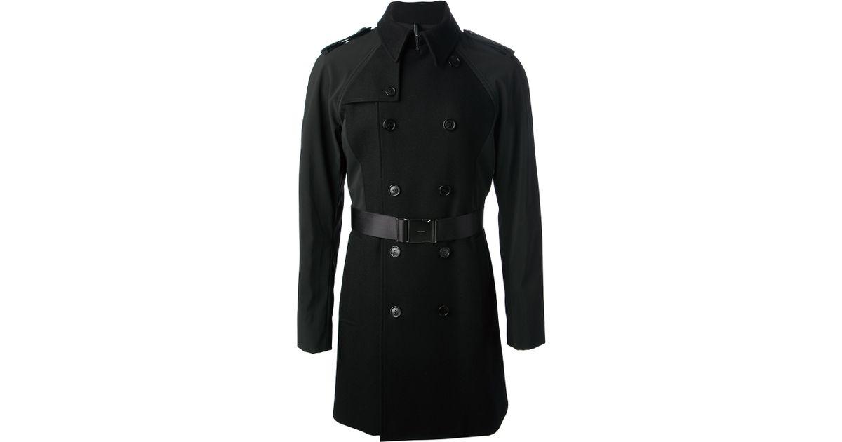 lyst dior homme trench coat in black for men. Black Bedroom Furniture Sets. Home Design Ideas