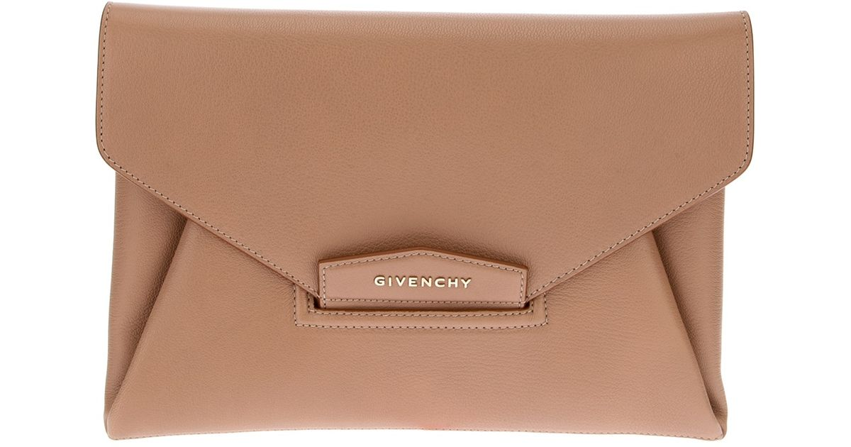6592fc28f065 Givenchy Antigona Envelope Clutch in Natural - Lyst