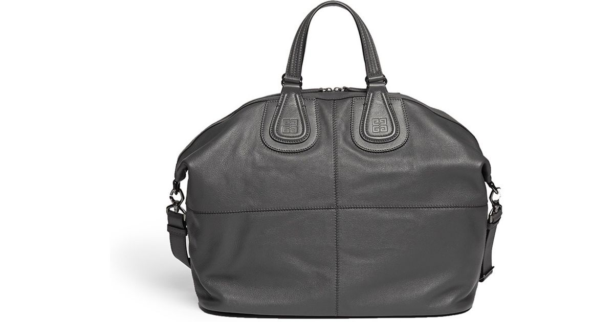 5ee5c85c7e72 Lyst - Givenchy Nightingale Medium Leather Bag in Gray for Men