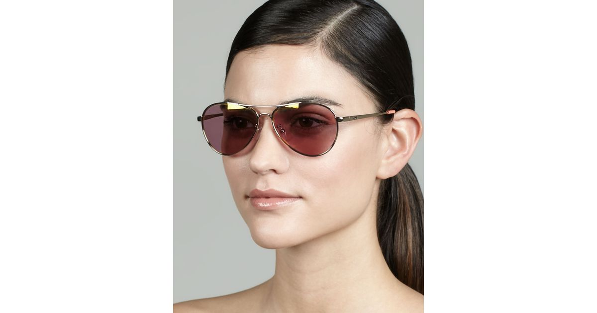Toms Aviator Sunglasses  toms kilgore aviator sunglasses pink flash in pink lyst
