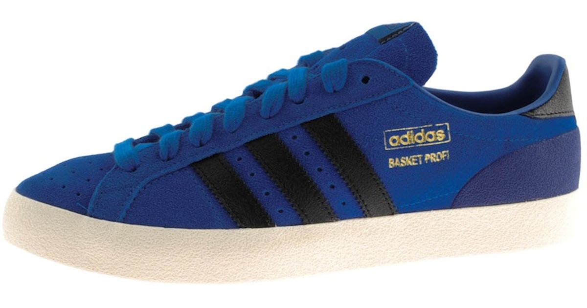 new styles 5089d 28bcd adidas Originals Basket Profi Lo Trainers in Blue for Men -