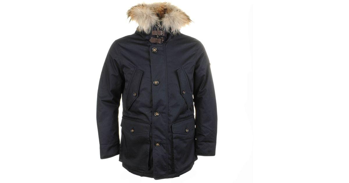 d1ab77e50 Hackett Blue London Arctic Parka Jacket for men