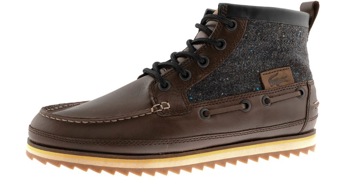 0d88d8e9532c0 Lacoste Sauville Mid Boots in Brown for Men - Lyst