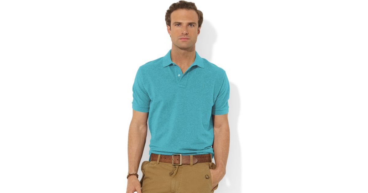 Ralph lauren Classicfit Shortsleeve Cotton Mesh Polo in Blue for Men | Lyst