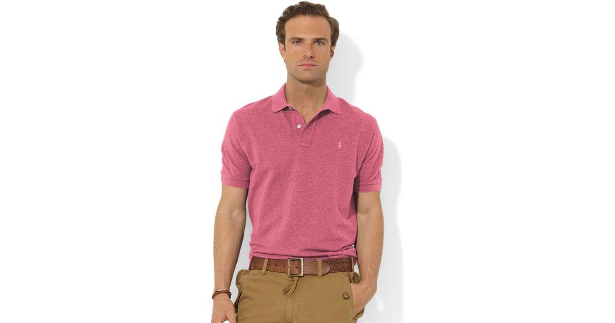 d159c4ffde43 Ralph lauren Classicfit Shortsleeve Cotton Mesh Polo in Purple for Men