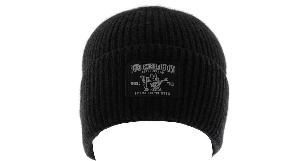 e97c18651895e True Religion Ribbed Beanie Hat in Black for Men - Lyst