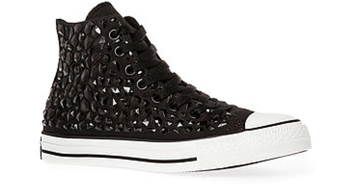 4b1d9cea1dede9 Lyst - Converse The Chuck Taylor All Star Rhinestone Hi Sneaker in Black
