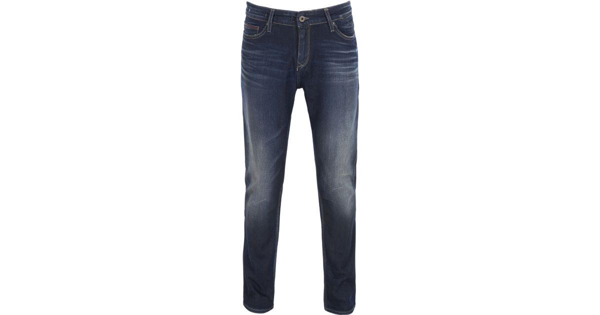 tommy hilfiger sidney skinny jean in blue for men denim. Black Bedroom Furniture Sets. Home Design Ideas