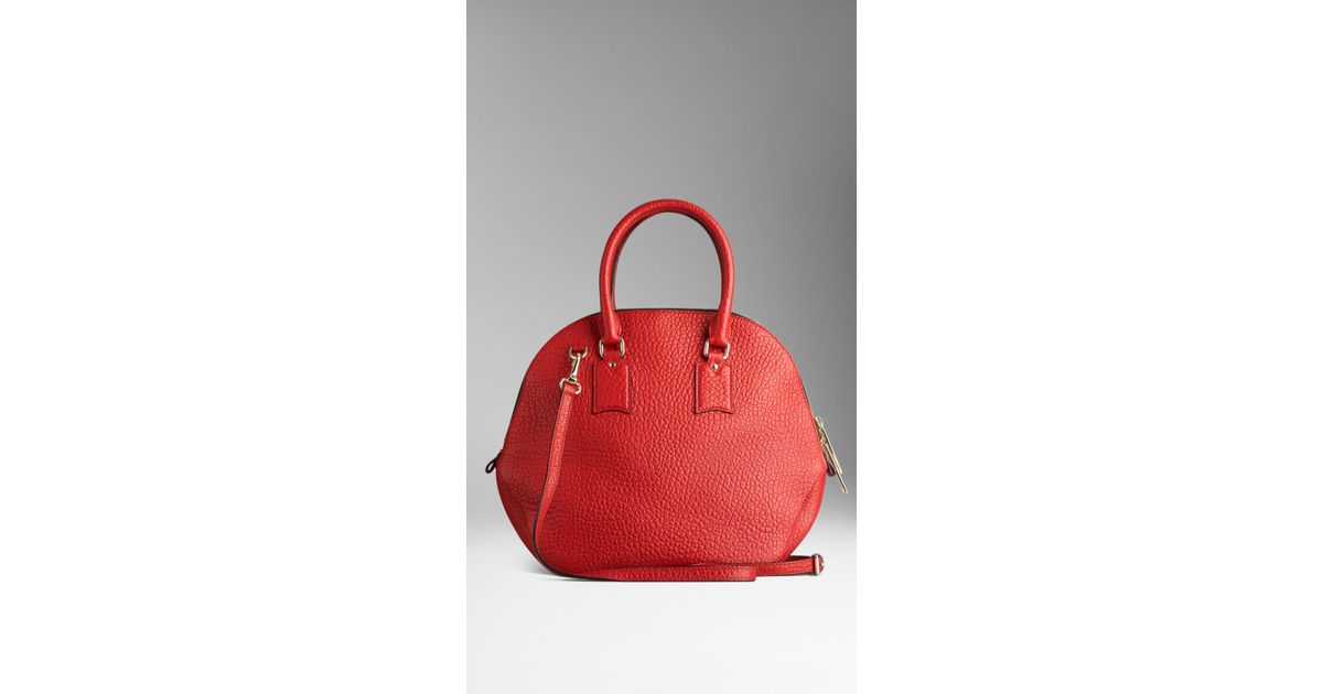 563fa5c508dc Burberry The Medium Orchard In Signature Grain Leather in Red - Lyst