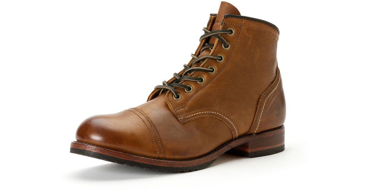 Frye Logan Captoe Boot Cognac in Brown
