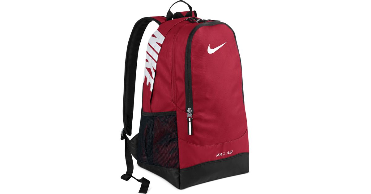 Nike Men Red Max For Large Team Air Backpack Training NOwkn0X8P