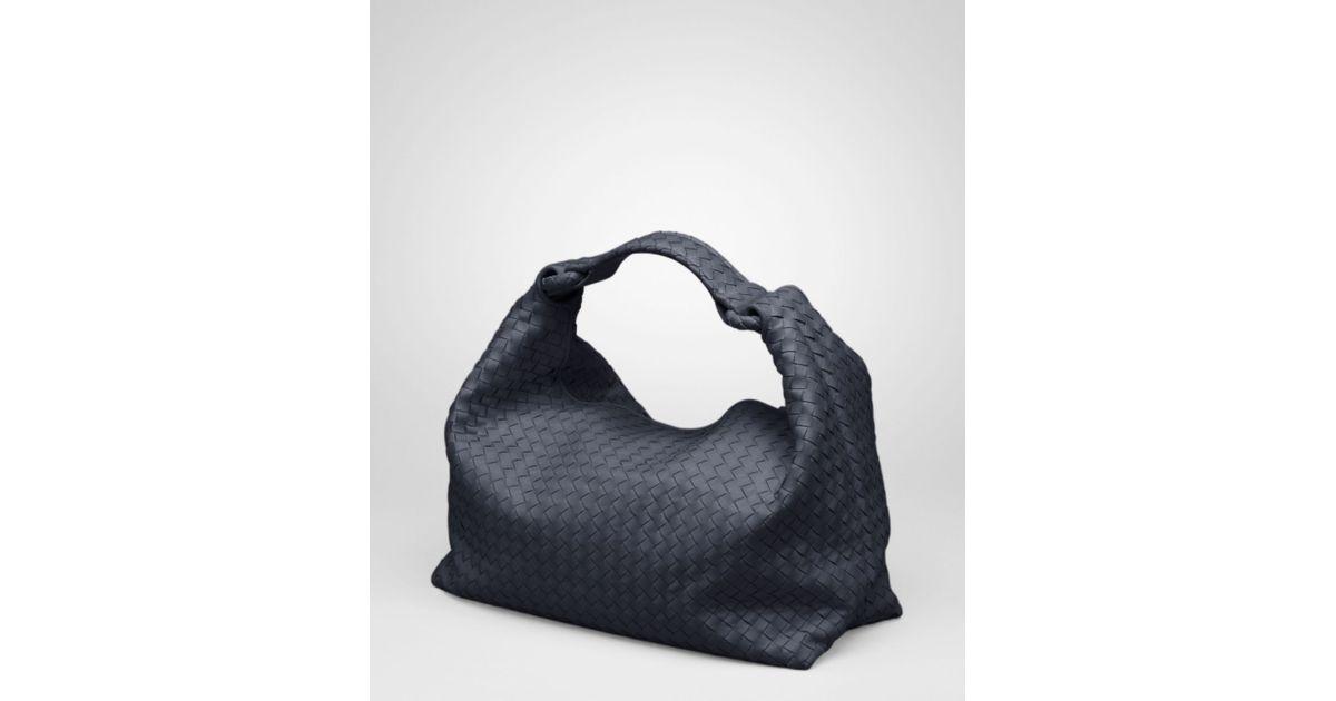 Lyst - Bottega Veneta Prusse Intrecciato Light Calf Sloane Bag in Blue 4d777bd8cc81a