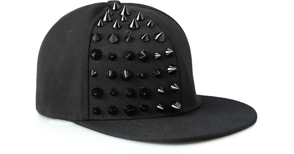 Lyst - Forever 21 Bold Spiked Snapback Hat in Black for Men 536c4f9b0ec