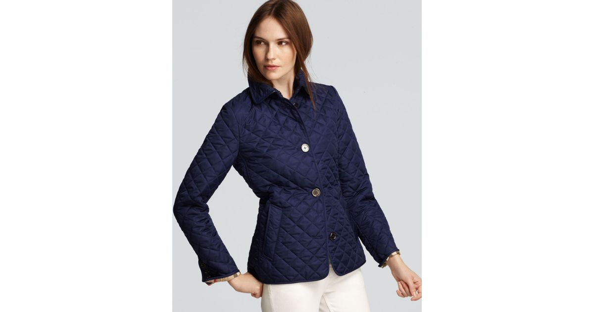 Lyst - Burberry Brit Copford Quilted Jacket in Blue : burberry brit copford quilted jacket black - Adamdwight.com