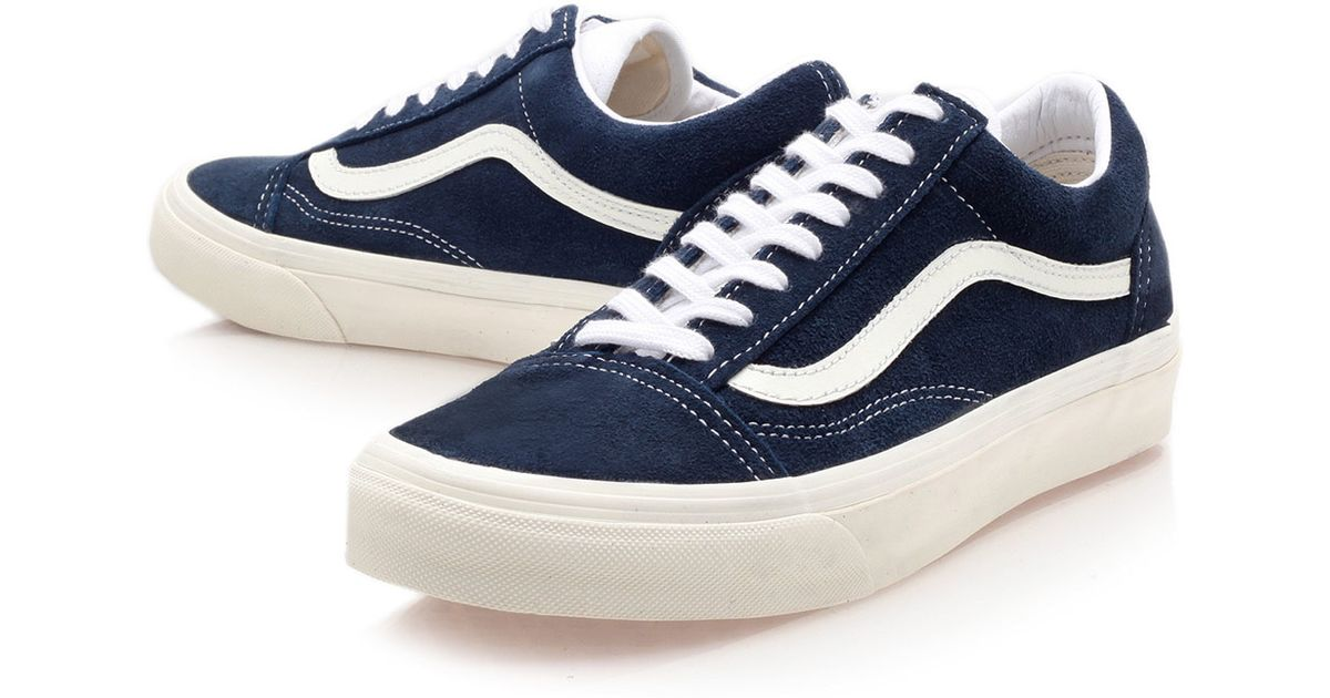 lyst vans navy old skool trainers in blue for men. Black Bedroom Furniture Sets. Home Design Ideas