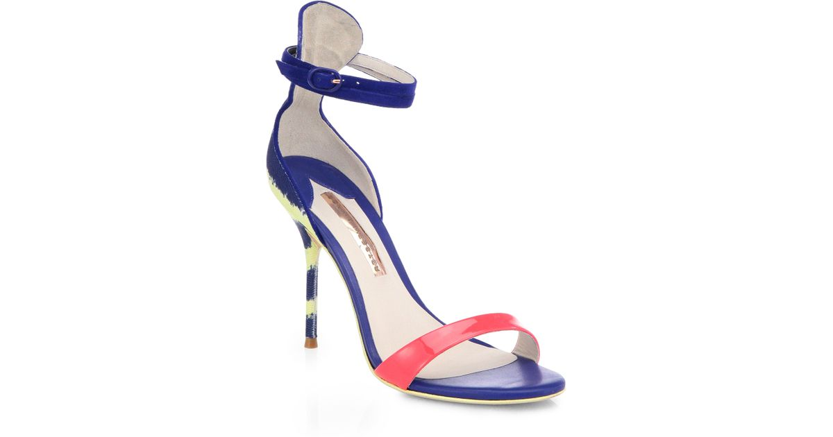 Nicole Patent-leather Sandals - Black Sophia Webster puMovUHkz