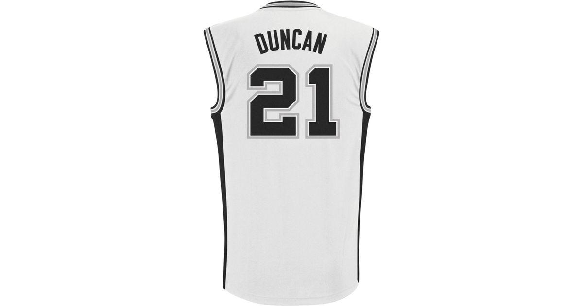 de999476648 adidas Mens San Antonio Spurs Tim Duncan Jersey in White for Men - Lyst