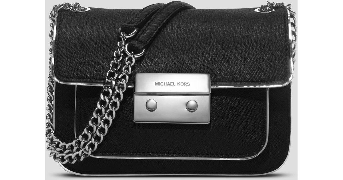 c28975a5538c ... usa lyst michael michael kors shoulder bag sloan specchio small in black  fab4b 12f57