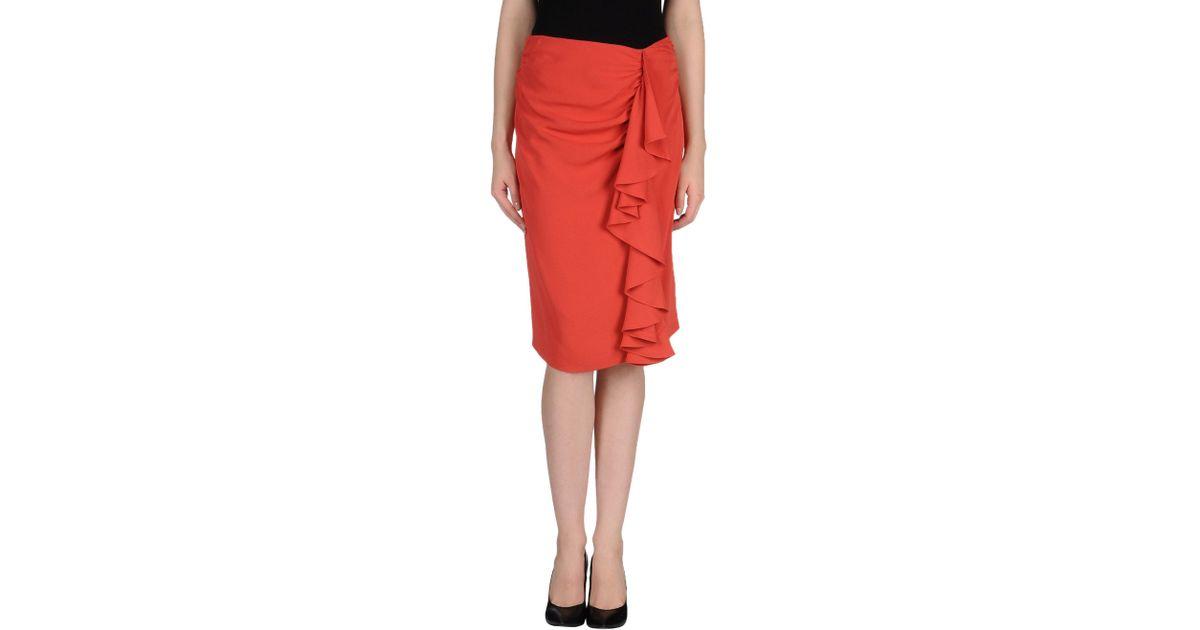 fendi knee length skirt in pink lyst
