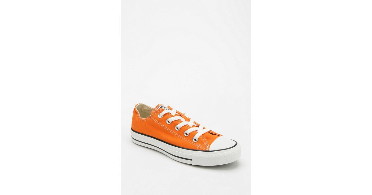 0fc3ca3ee607 Lyst - Urban Outfitters Converse Chuck Taylor All Star Womens Lowtop Sneaker  in Orange for Men