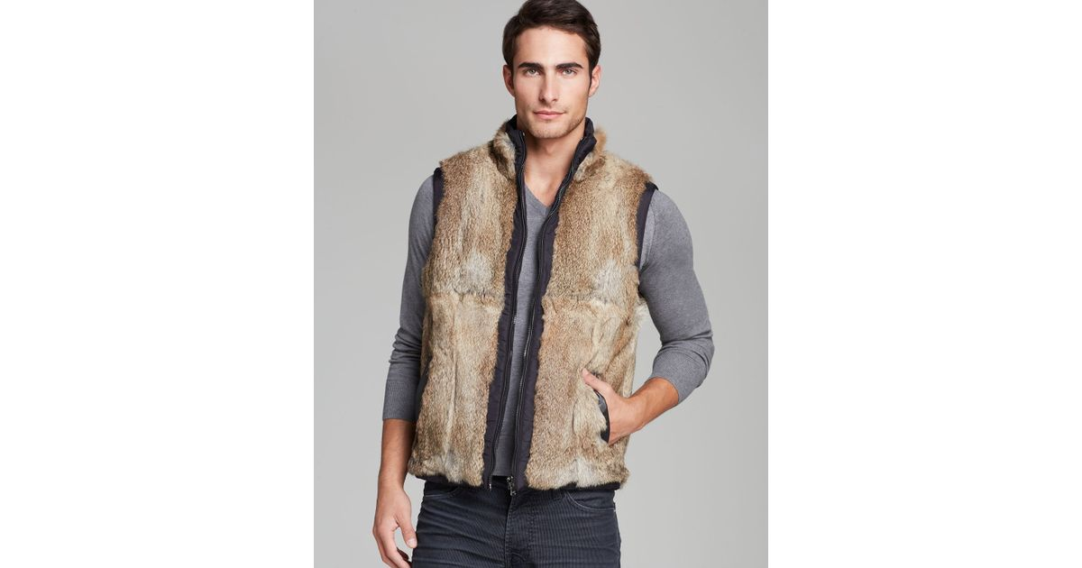 Lyst - Michael Kors Reversible Fur Vest in Black for Men 88754f81222b