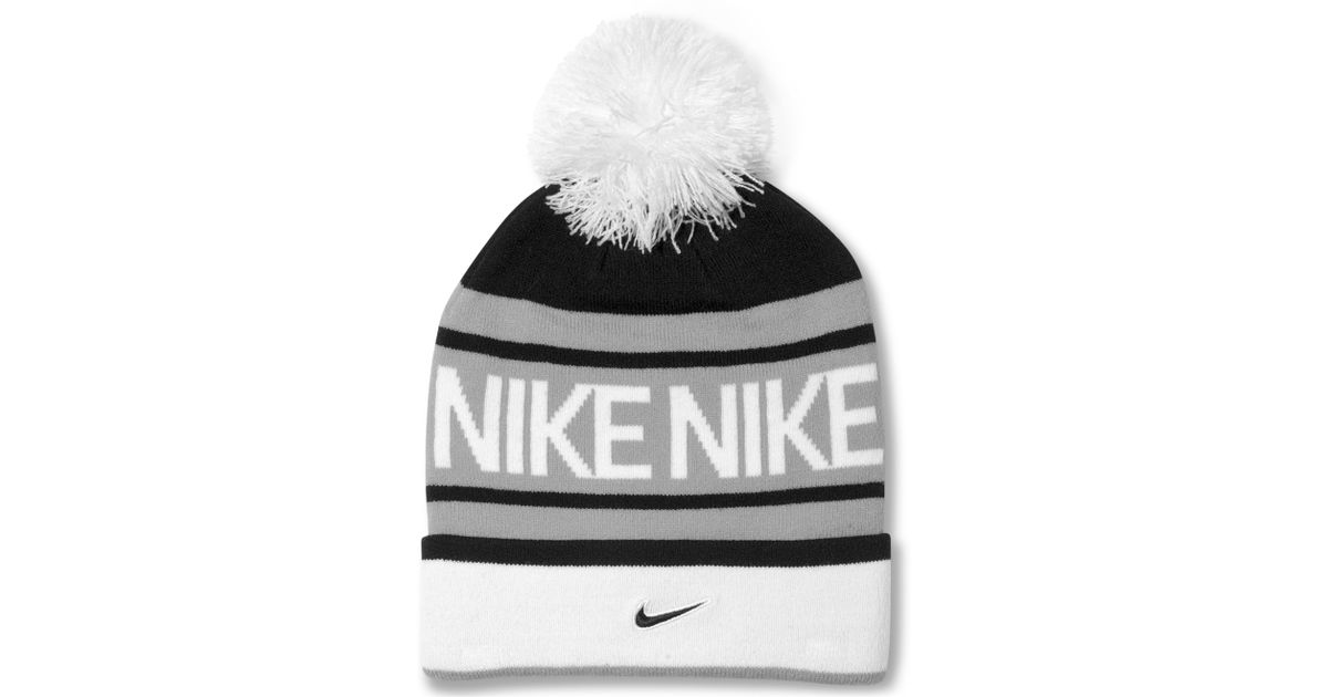 5723436b Nike Pom Pom Beanie in Black for Men - Lyst