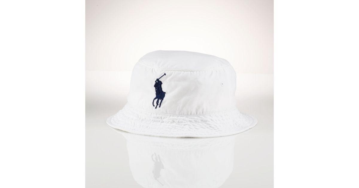 Lyst - Polo Ralph Lauren Beachside Bucket Hat in White for Men 759cd3a451f