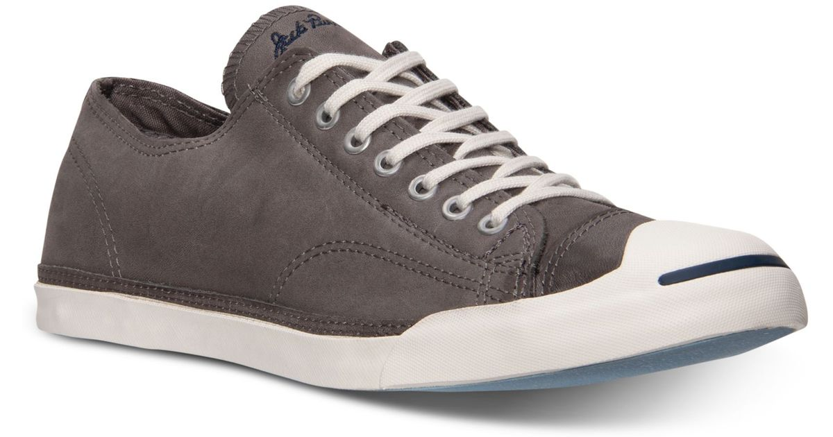 5e3168df1038 Lyst - Converse Mens Jack Purcell Lp Casual Sneakers From Finish Line in  Gray for Men