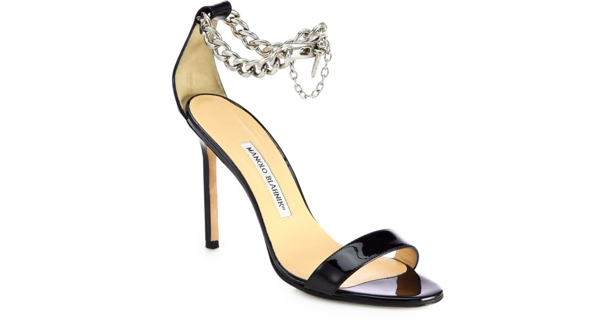 Womens Chaos Patent Leather Sandals Manolo Blahnik Footlocker Finishline Online Discount Pictures Discount With Mastercard GhZi1B
