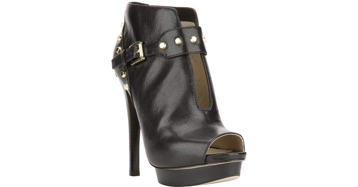 3abc8fbea5c5 Lyst - MICHAEL Michael Kors Ailee Studded Bootie in Black