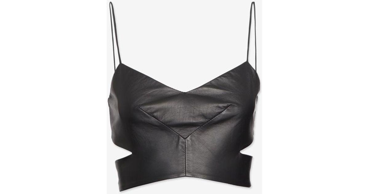 98300b23cc1 Lyst - Nicholas Cut Out Leather Bra Top in Black