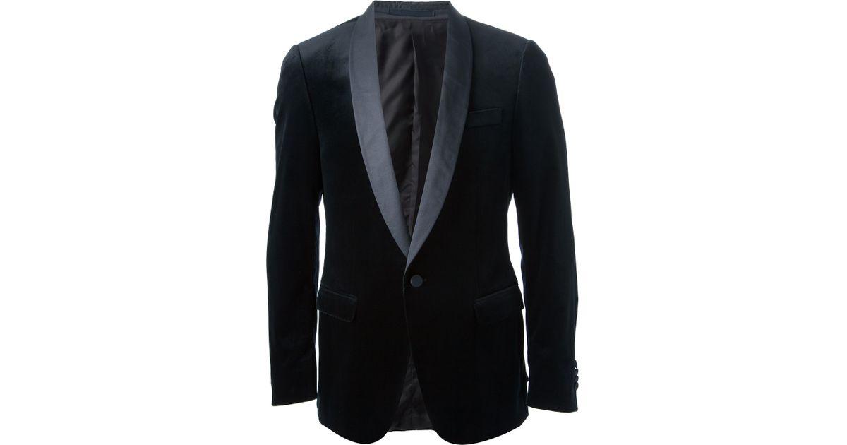 c3c1b78a46 Ermenegildo Zegna Blue Velvet Blazer for men