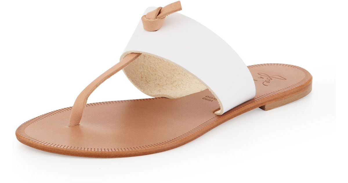 ec60a7198b7 Lyst - Joie Nice T-strap Thong Flat Sandal in Brown