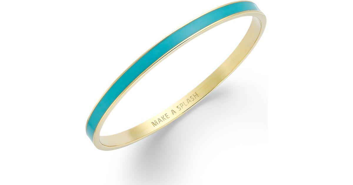 Lyst Kate Spade New York Goldtone Turquoise Make A Splash Bangle Bracelet In Blue