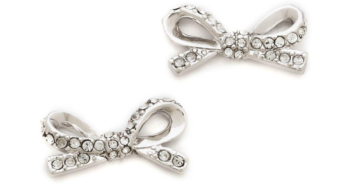 Kate Spade Silver Bow Earrings   Bangle and Bracelets