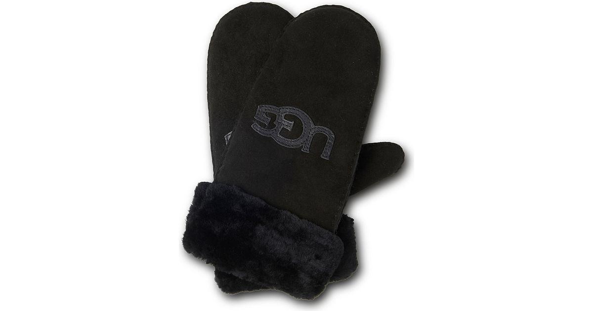 2cf264933cd UGG Black Classic Logo Mittens