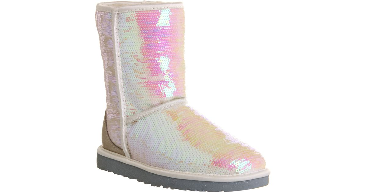 UGG Sparkles I Do in White (Pink) - Lyst