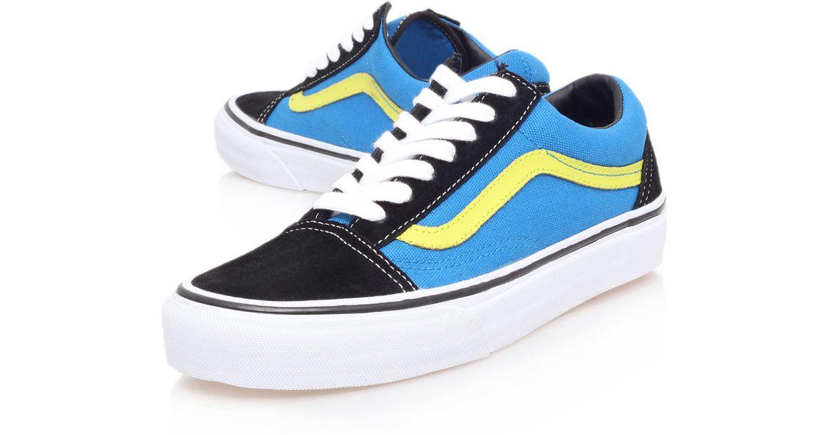 vans black and blue old skool