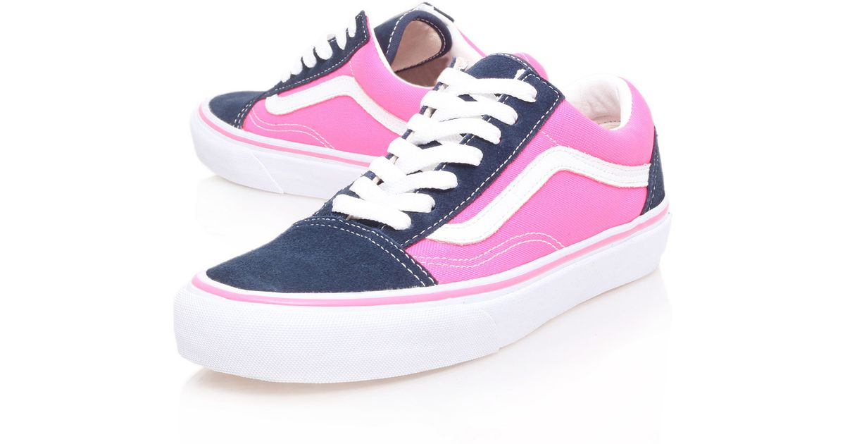 for sale many styles sports shoes Vans Blue Navy and Pink Old Skool Trainers for men