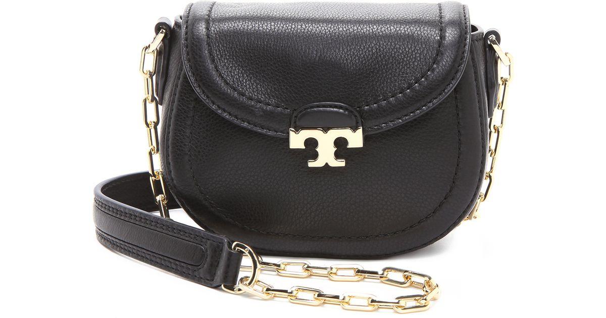 0b97380d0676 Lyst - Tory Burch Sammy Cross Body Bag in Black