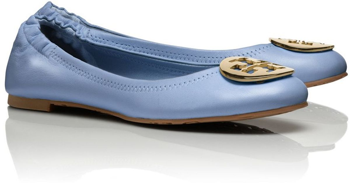 d5a9e136e Lyst - Tory Burch Reva Ballet Flat in Blue